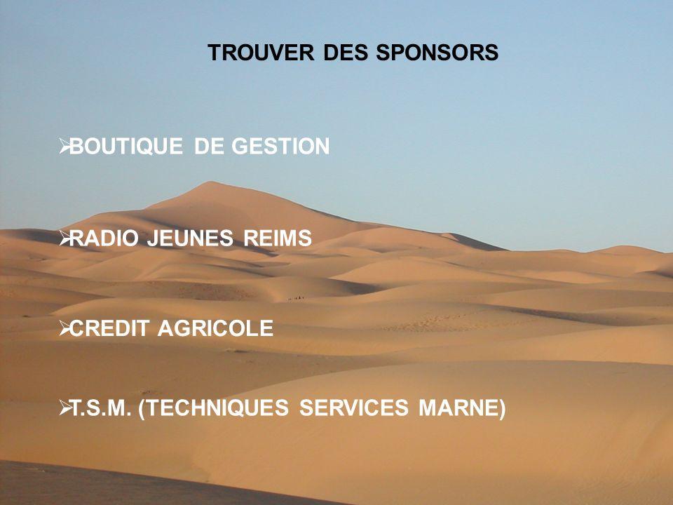TROUVER DES SPONSORS BOUTIQUE DE GESTION RADIO JEUNES REIMS CREDIT AGRICOLE T.S.M.