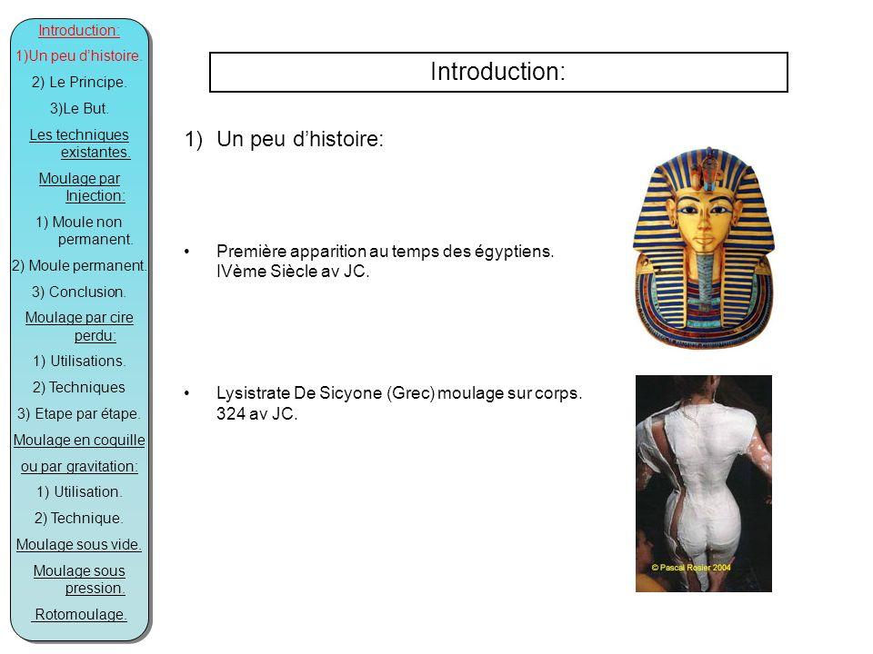 Introduction: 1)Un peu dhistoire: Première apparition au temps des égyptiens.