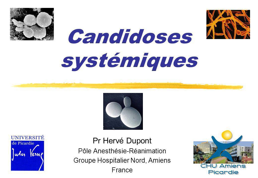 271 patients 39,5%32,1%28,4% CandidémieCandidose invasive + Leroy, AFAR 2008 48%41%49% Mortalité 210 isolats testés, 17% SDD ou R au fluconazole