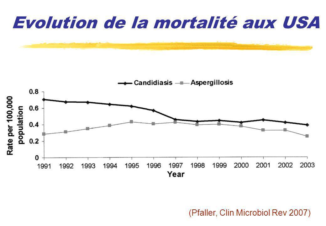 Index de colonisation (2) Analyse multivariée des facteurs de risques dinfection à Candida spp : Apache II : OR 1,03 par point, IC 95 % [1,01-10,5] p = 0,007 Index colonisation corrigé : OR 4 IC 95 % [2,2-7,4] p 0,001 (Pittet, Ann Surg 1994)