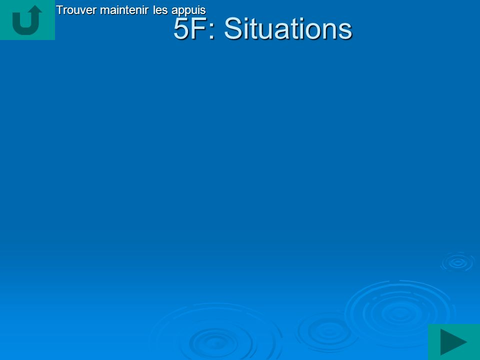 5F: Situations 5F: Situations Trouver maintenir les appuis