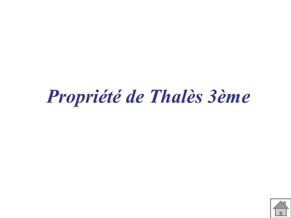 Propriété de Thalès 3ème