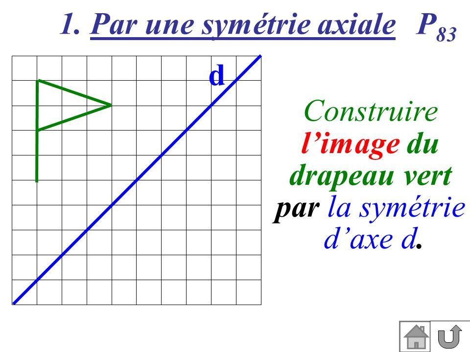 1. Par une symétrie axiale d P 83 Construire limage du drapeau vert par la symétrie daxe d.