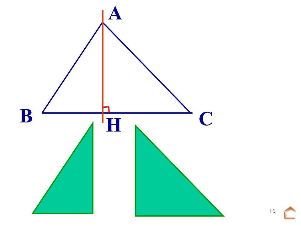 9 A laide du premier triangle et des deux morceaux du deuxième reconstitue une figure géométrique que tu connais H A B C