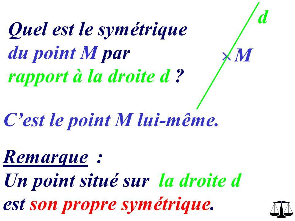 Construire le point A symétrique de A par rapport à d avec une règle et une équerre d A