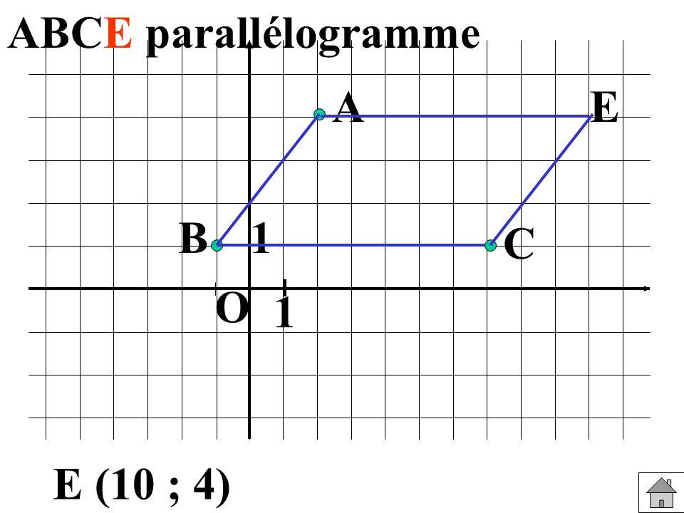 1 1 O B A C E E (10 ; 4)