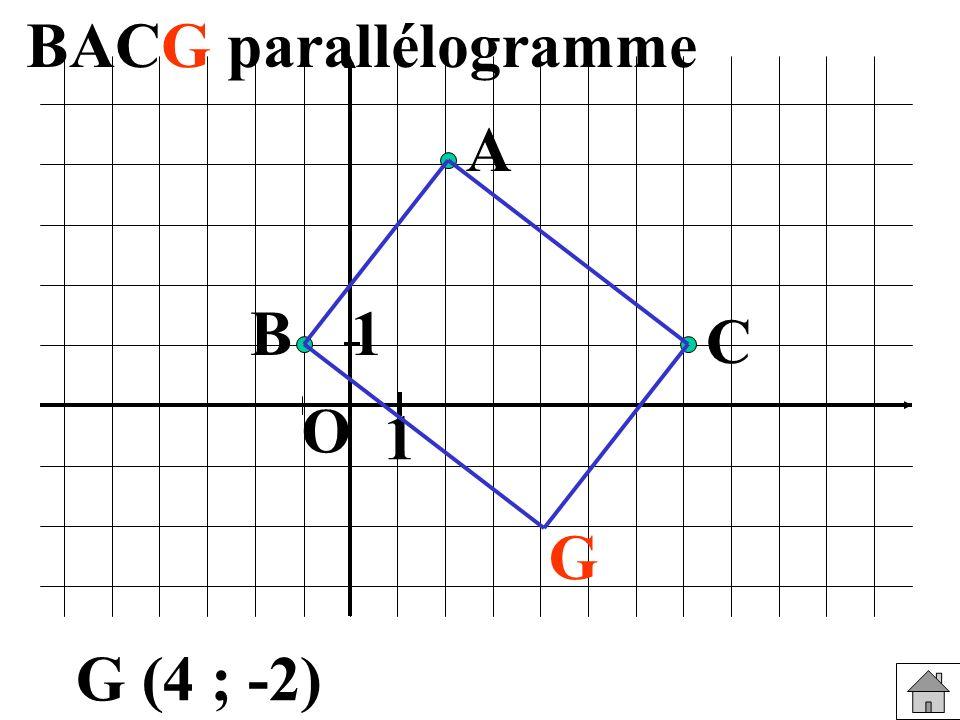 1 1 O B A C G G (4 ; -2)