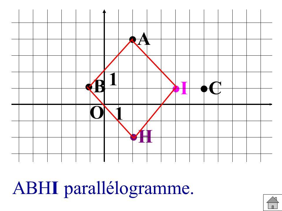I H C B A 1 1 O ABHI parallélogramme.