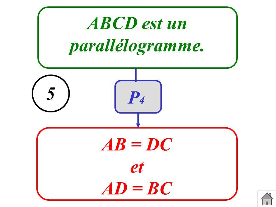 ABCD est un parallélogramme. AB = DC et AD = BC 5 P4P4