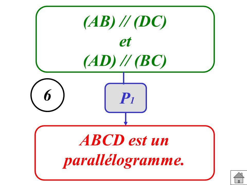 (AB) // (DC) et (AD) // (BC) ABCD est un parallélogramme. 6 P1P1