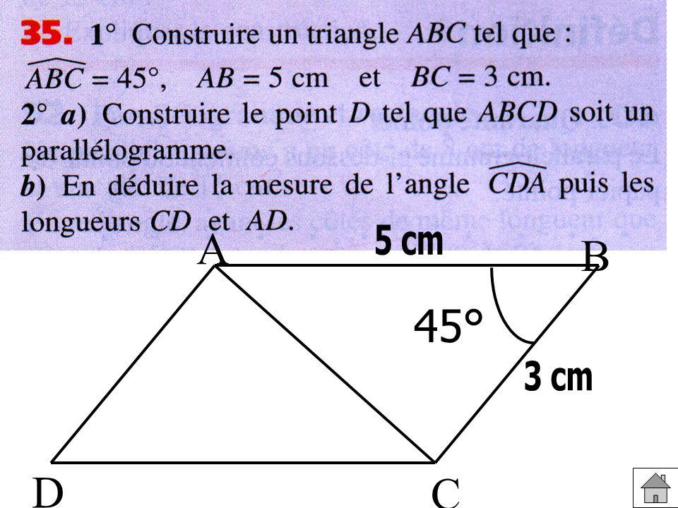 45° A B C D