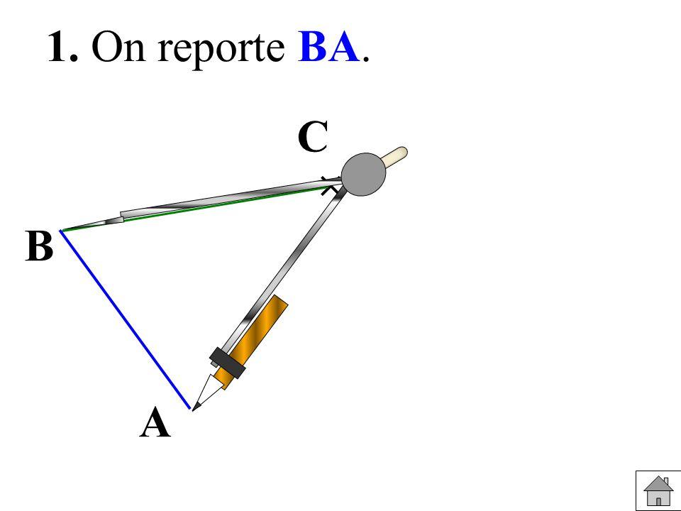 1 1 O B A C ACBF parallélogramme