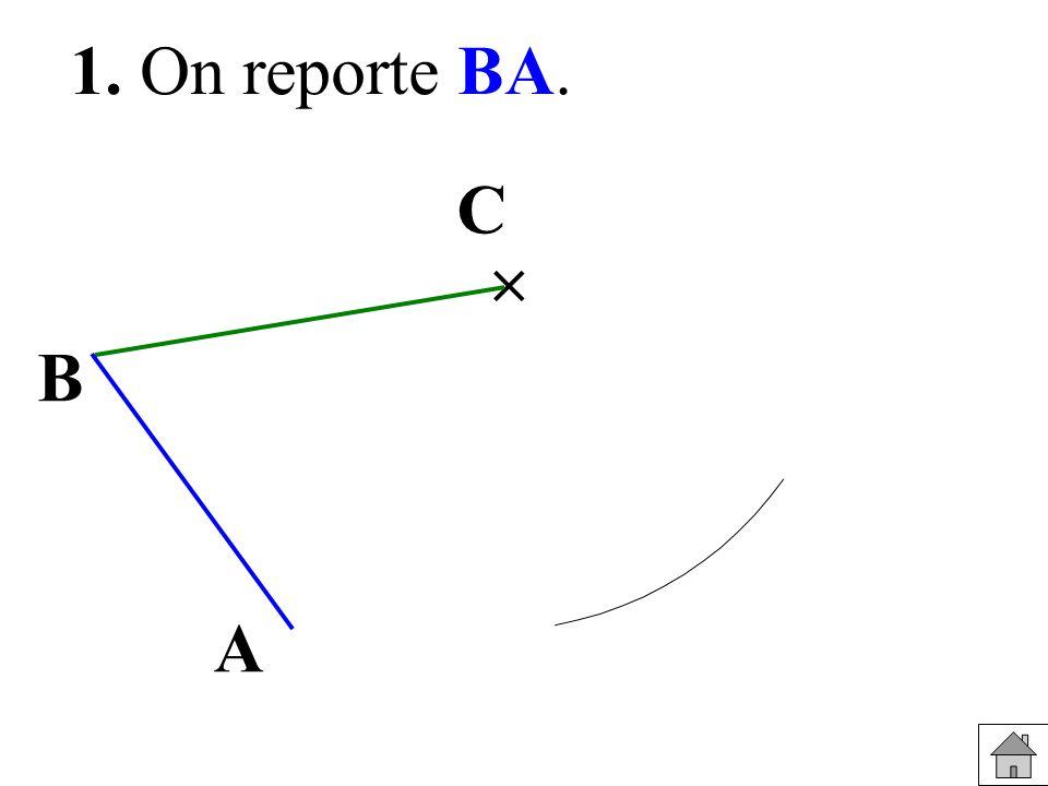 1°) Tracer trois points M, O et P non alignés.