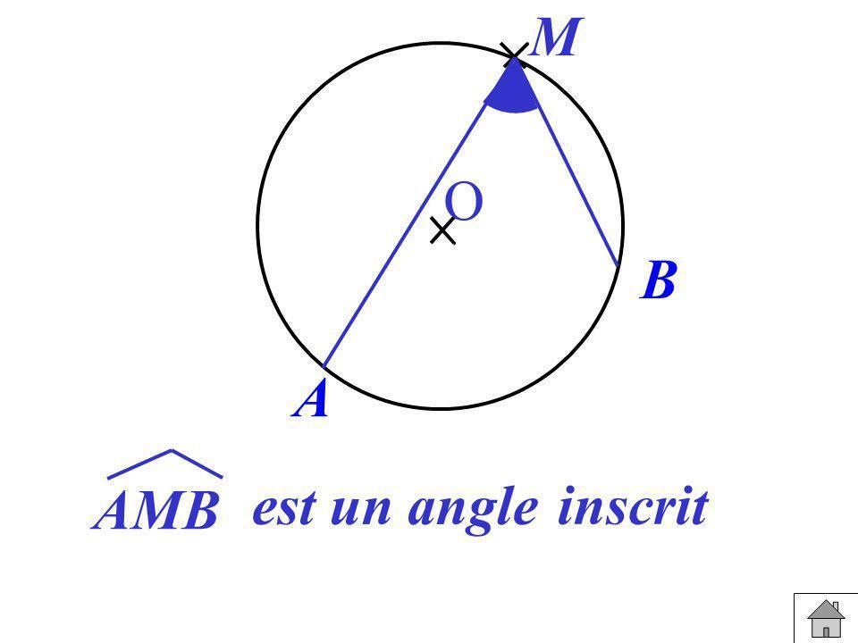 A B M O AMB est un angle inscrit