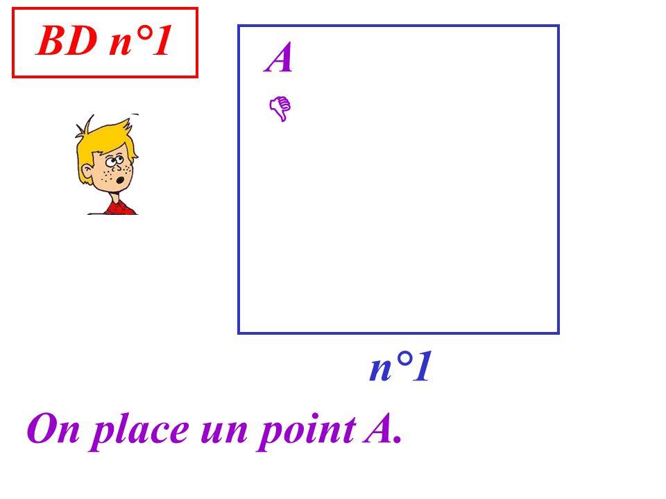 BD n°1 n°1 A On place un point A.