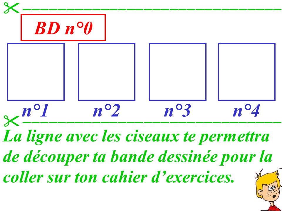 Quelques remarques Tu remarqueras que lon ne recommence pas dans le carré n°2 la description du carré n°1, car lhistoire se poursuit.