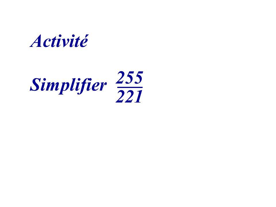 Activité Simplifier 255 221