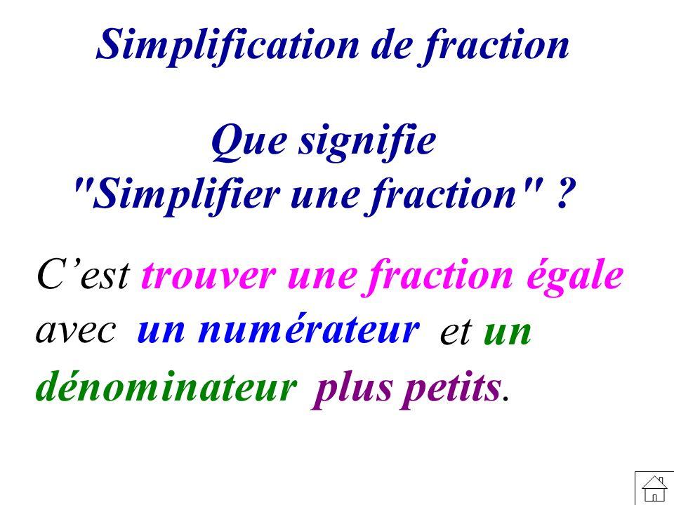 Simplification de fraction Que signifie