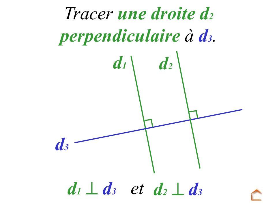 d1d1 d3d3 Tracer une droite d 2 perpendiculaire à d 3. d 1 d 3 d 2 et d 2 d 3