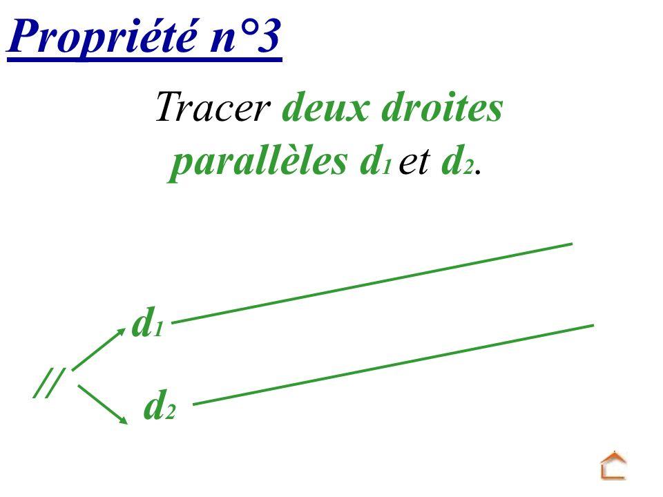 d 1 Tracer deux droites parallèles d 1 et d 2. Propriété n°3 d 2 //