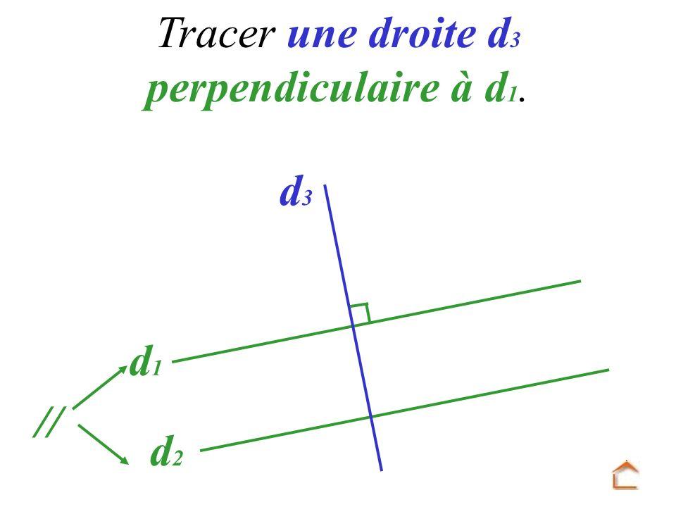 d1d1 d2d2 Tracer une droite d 3 perpendiculaire à d 1. d 3