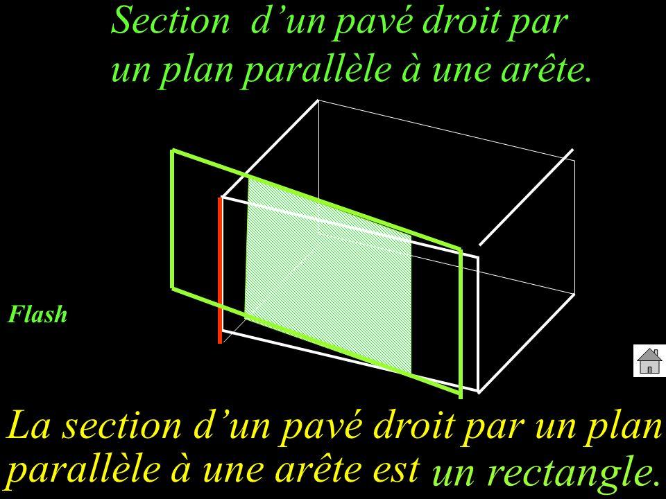 Section dun pavé droit par un plan parallèle à une arête. La section dun pavé droit par un plan parallèle à une arête est un rectangle. Flash