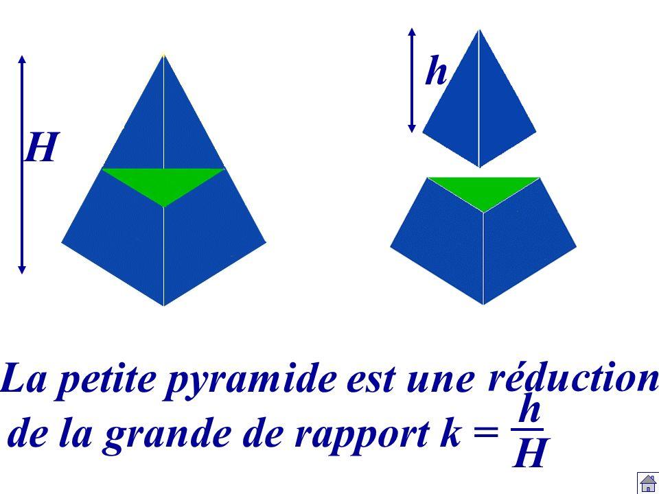 La petite pyramide est une hHhH H h réduction de la grande de rapport k =