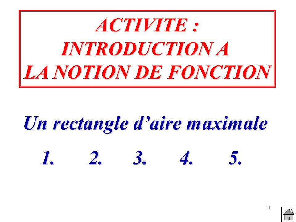 12 5.Conclusion : Pour quelle valeur de x, laire A(x) du rectangle semble t-elle maximale .