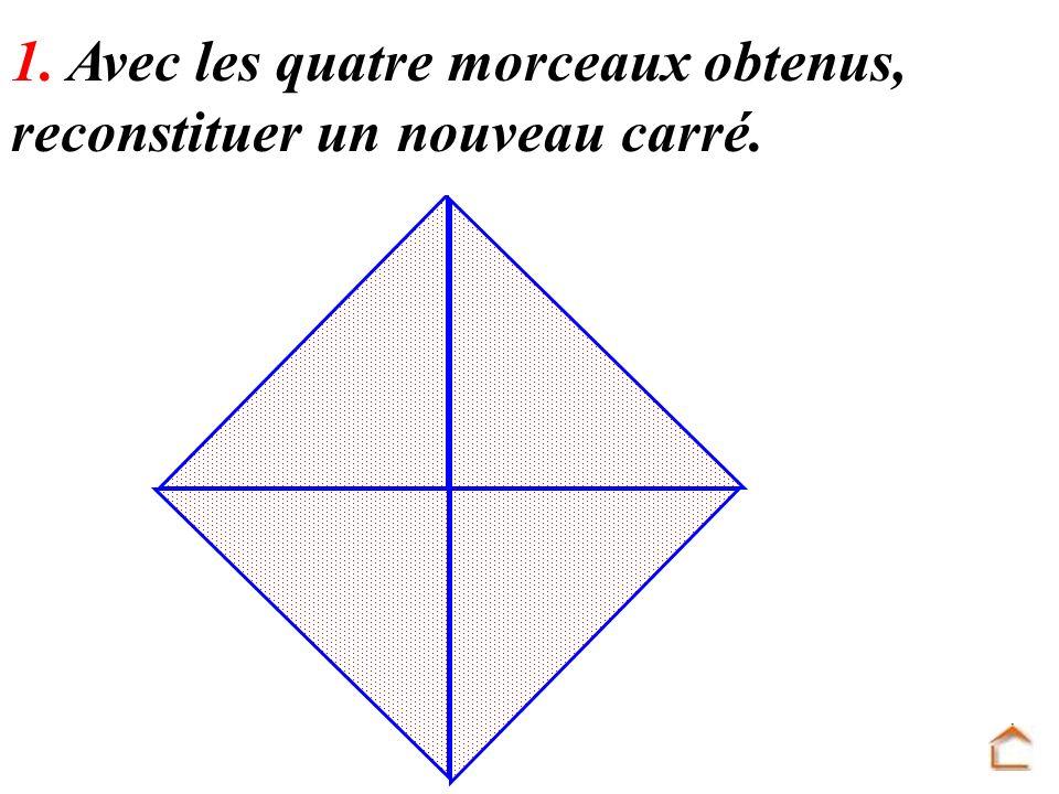 2. Quelle est, en dm², laire de ce nouveau carré ? 1 dm A = 1 dm² A = 2 1 A = 2 dm²
