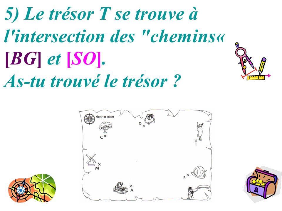 20 5) Le trésor T se trouve à l'intersection des