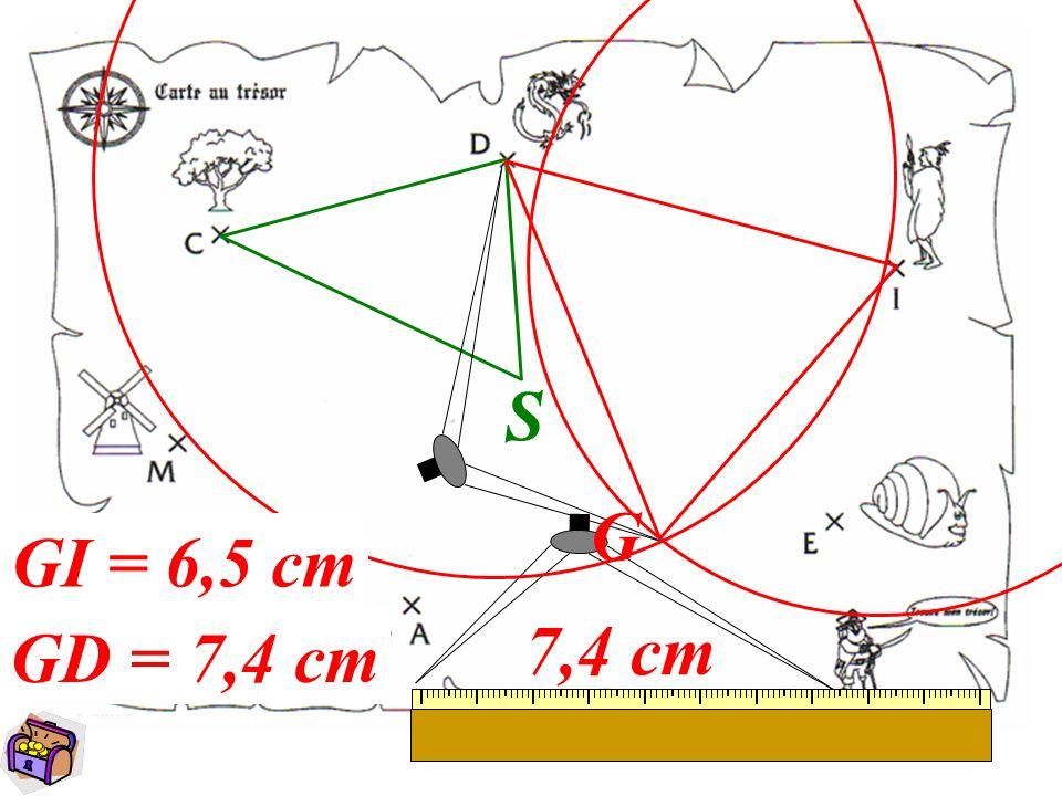 10 3) Le baobab B se trouve à 7,1 cm du moulin M tel que le triangle MAB soit isocèle en B.