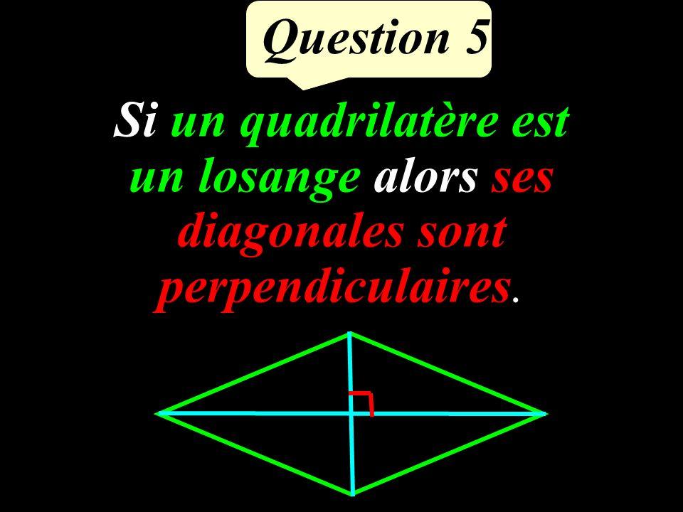 Question 4 Calculer OL en rédigeant. O B L 13 cm 5 cm ? BOL est rectangle en O. Daprès le théorème de Pythagore : BL² = BO² + OL² OL² = 13² - 5² OL12