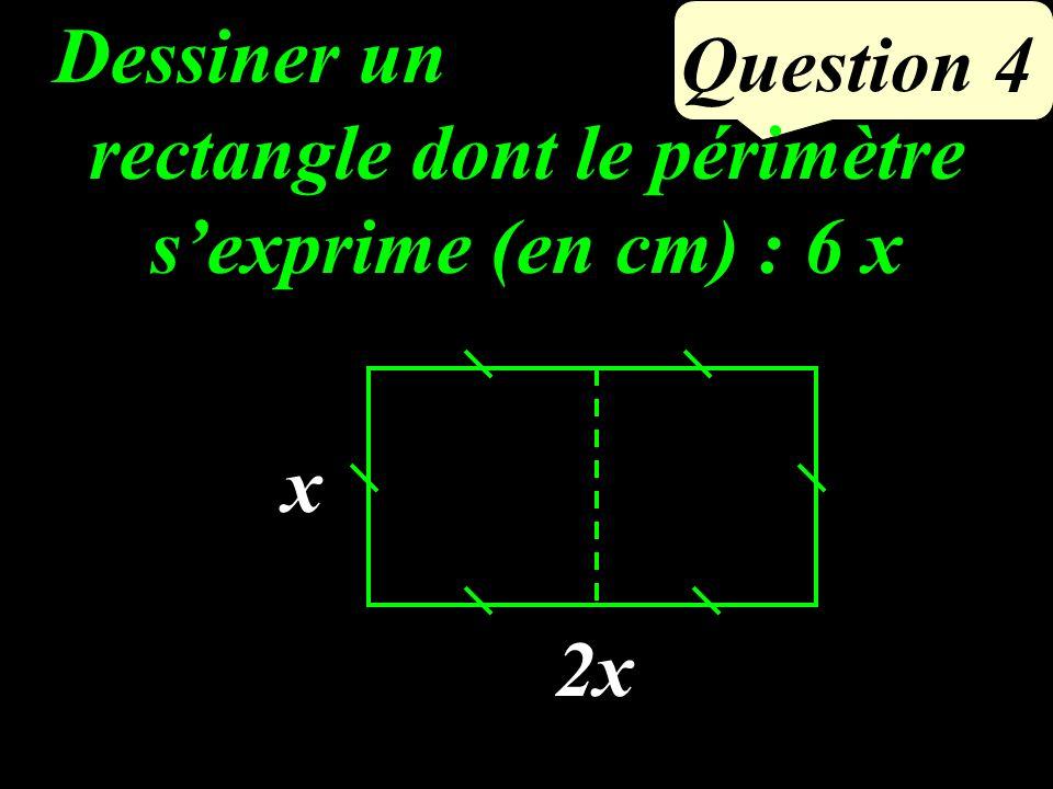 Question 3 Si un quadrilatère est un rectangle, alors ses diagonales ont le même milieu et sont de la même longueur OD = 6 cm ABCD est un rectangle de