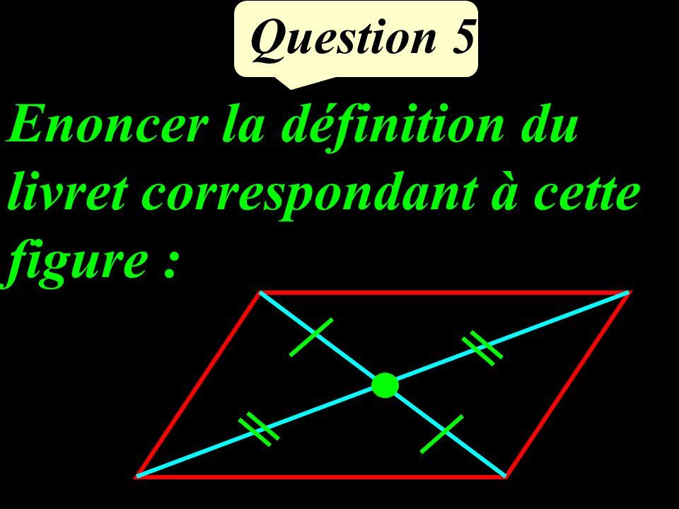 Question 5 Enoncer la définition du livret correspondant à cette figure :
