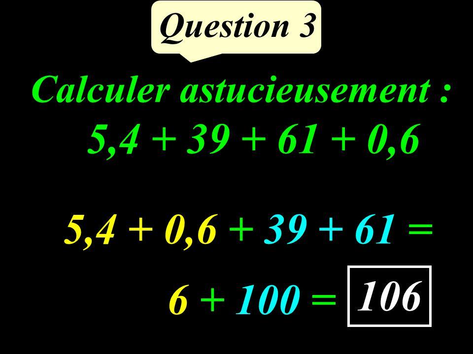 Compléter : 12,5 hg = ……..… g Question 2 1 250