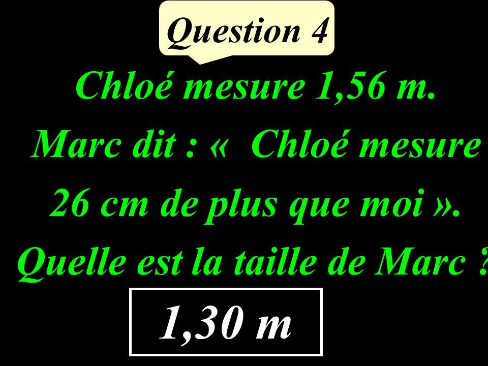 Question 3 Calculer astucieusement : 5,4 + 39 + 61 + 0,6 5,4 + 0,6 + 39 + 61 = 6 + 100 = 106