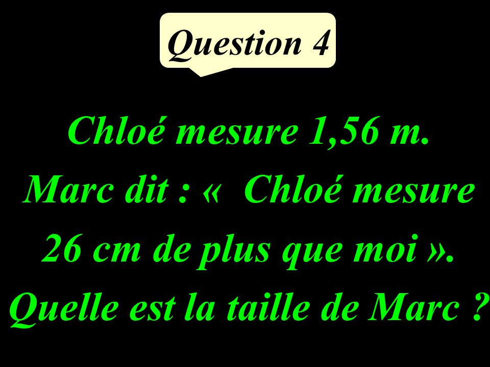 Question 3 Calculer astucieusement : 5,4 + 39 + 61 + 0,6