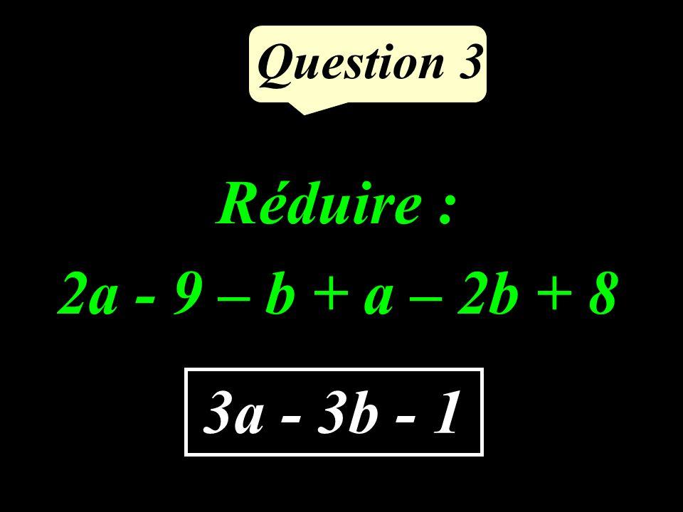 Question 2 Compléter pour que légalité écrite soit correcte : 9797 = …. 28 36