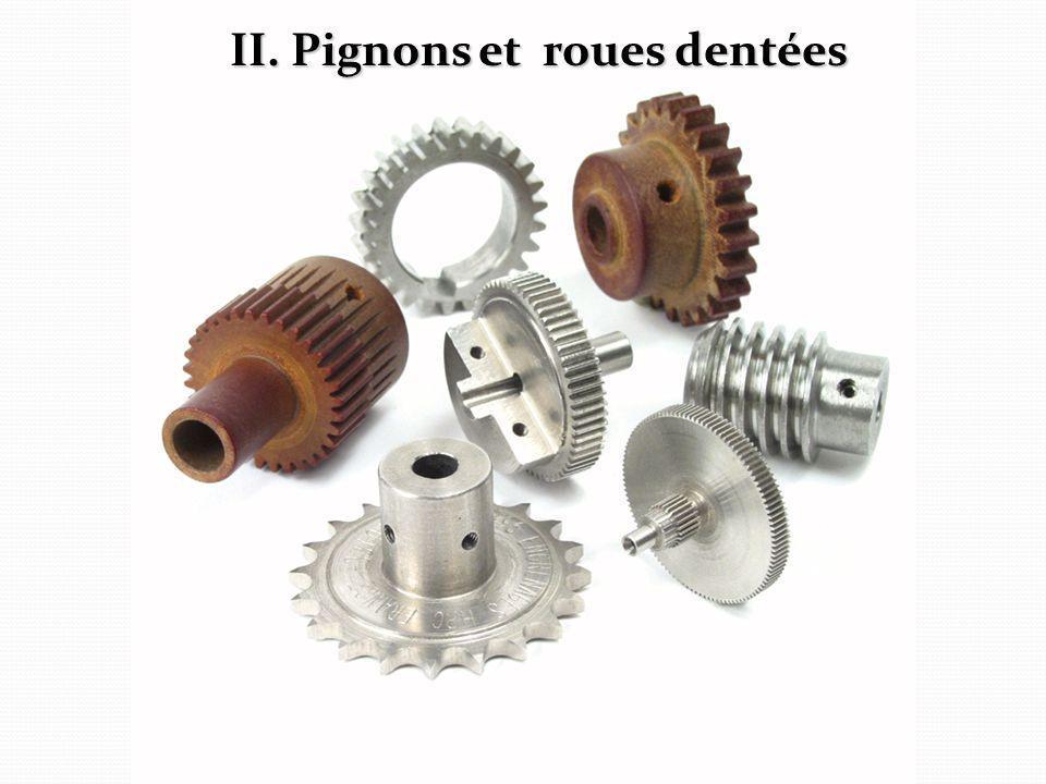 II. Pignons et roues dentées