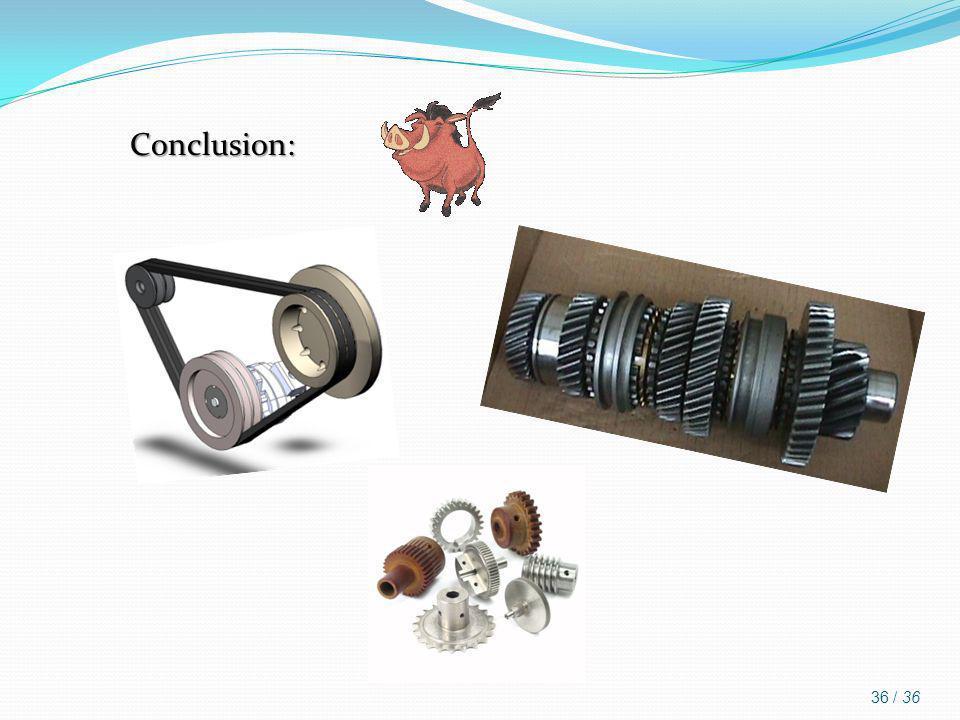 Conclusion: 36 / 36