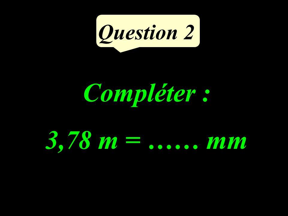 Question 1 Comparer avec lun des signes : ou = 9 6 …… 7 8