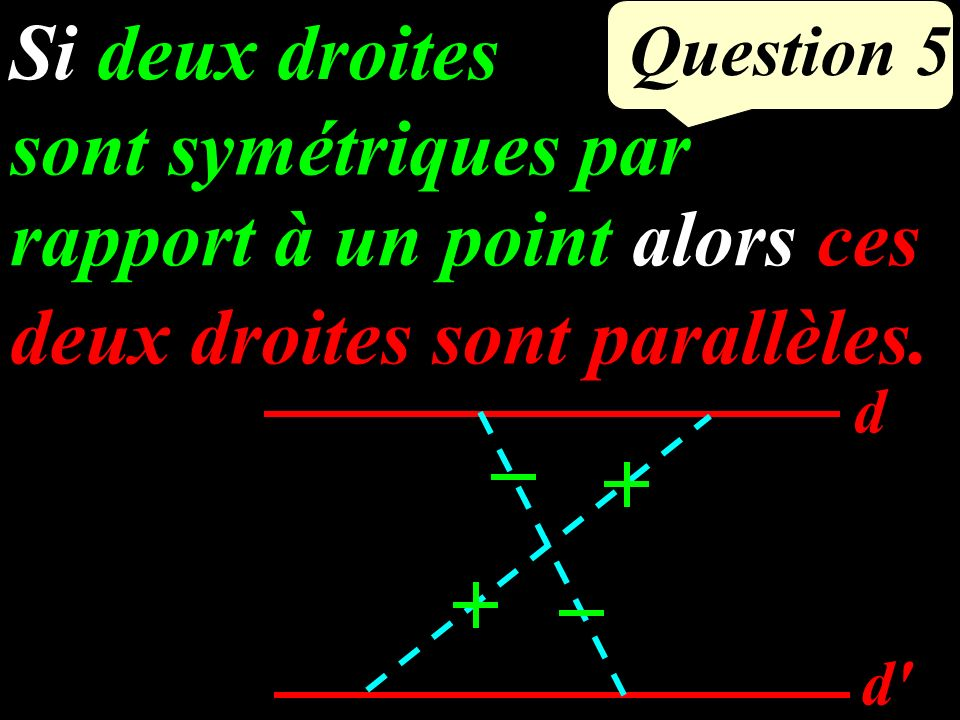 Question 4 J est le milieu de [AC]. (IJ) // (BC) Que peut-on dire du point J J A B C I 6 cm 3 cm