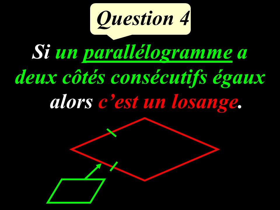 Question 3 Résoudre : (3x-6)(x+7) = 0 Si A B = 0 alors A=0 ou B=0. 3x – 6 = 0oux + 7 = 0 3x = 6x = -7 x = Les solutions sont : 2 et -7 2
