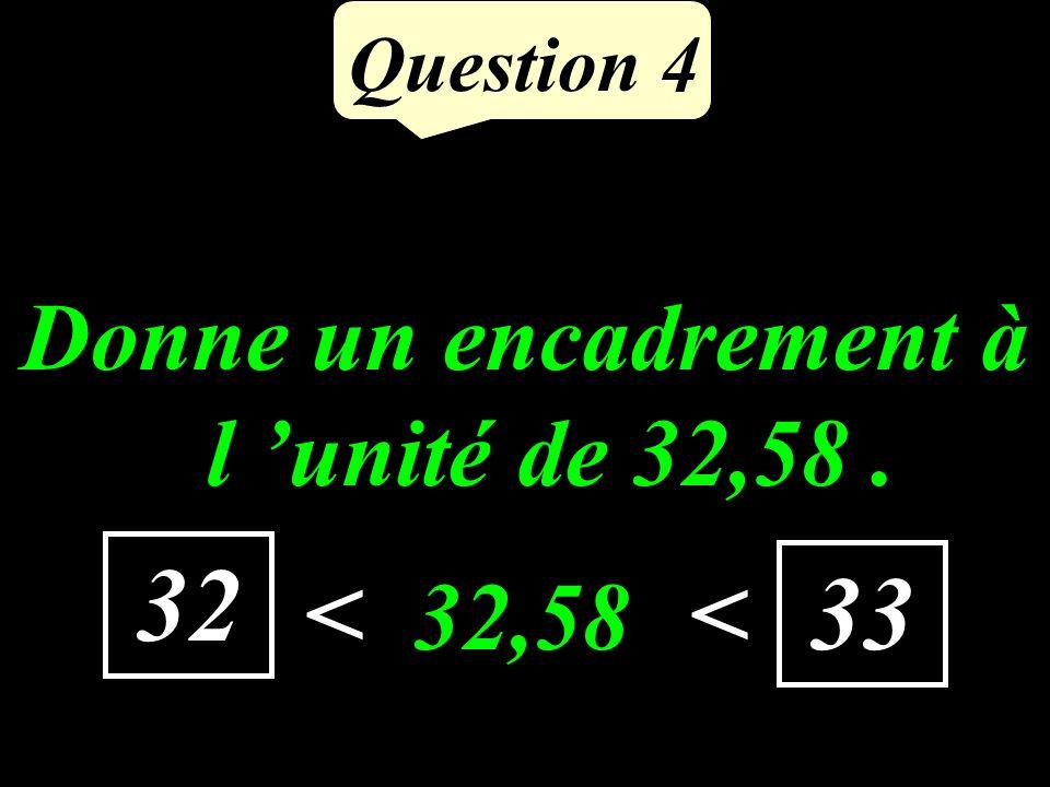 Question 3 Quel est le complément de 17 à 50 ? 33