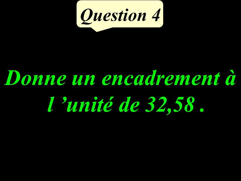 Question 3 Quel est le complément de 17 à 50