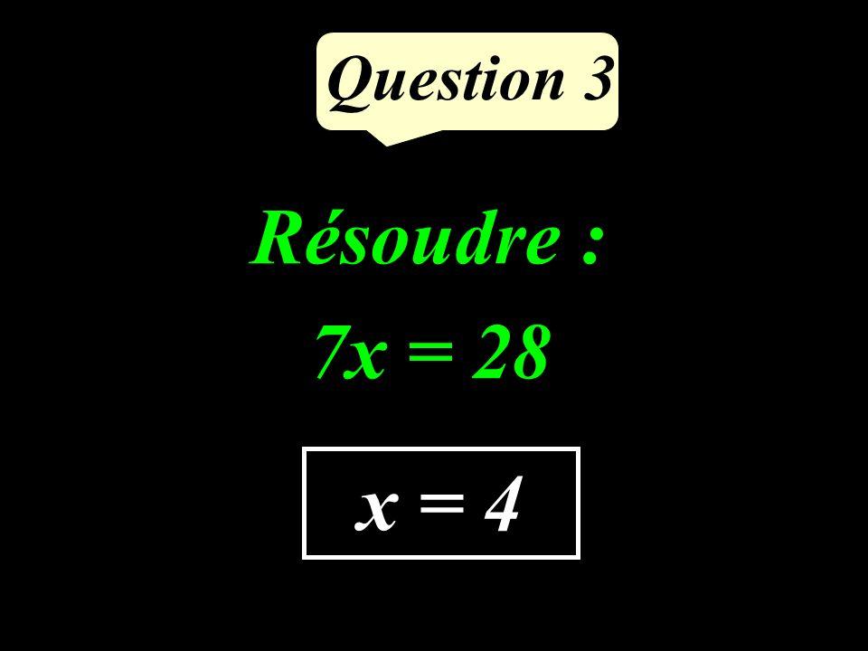 Question 2 Supprimer les parenthèses et réduire : (6x + 4) - (x - 11) 5x + 15