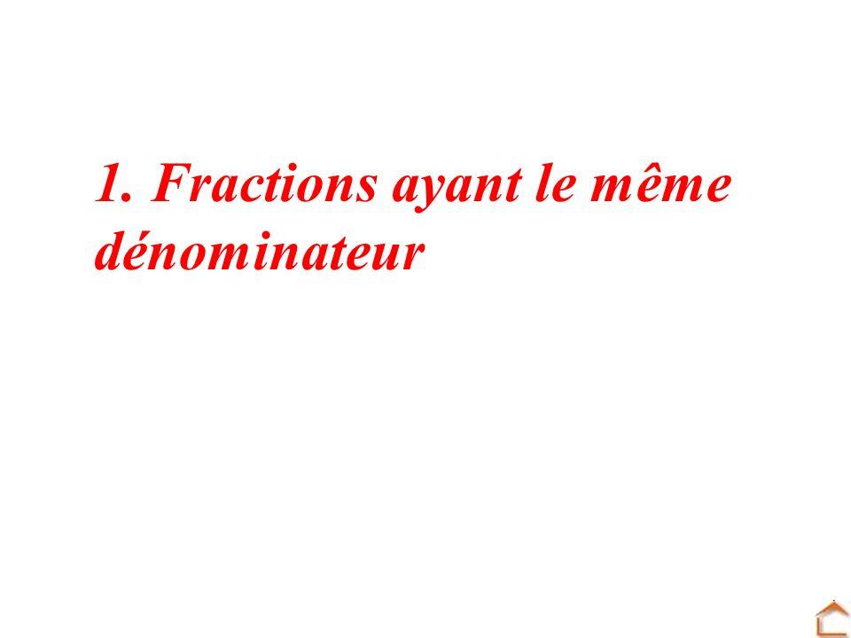 1. Fractions ayant le même dénominateur