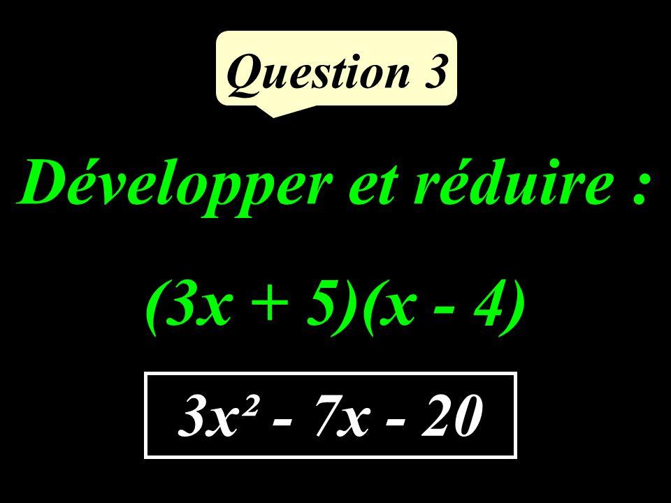 Question 2 MI² = 13 ² = 169 MO² + OI² = 12² + 5² = 144 + 25 = 169 MI² = MO² + OI² Daprès la réciproque du théorème de Pythagore, MOI est rectangle en O.
