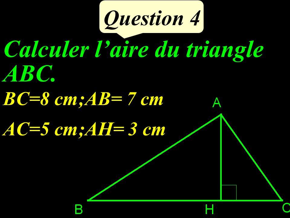 Ecrire le périmètre de ce carré en fonction de a Question 3 a