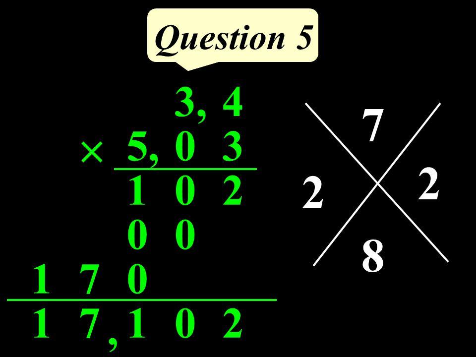 Cordonnées de A? Question 4 A 1 1 0 +2 -3 (+2 ; -3)
